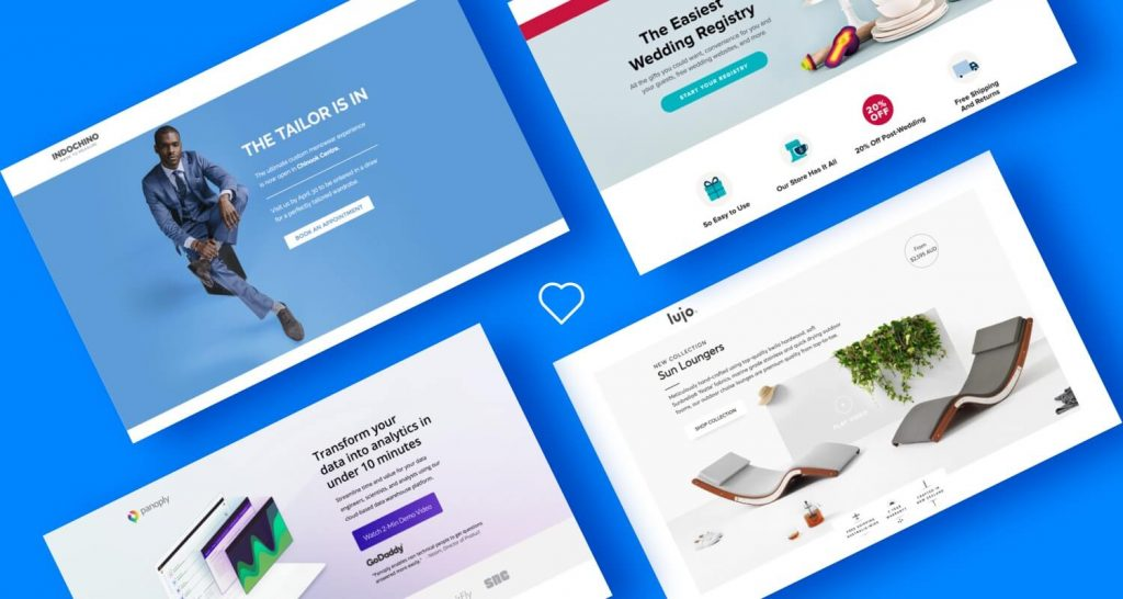 Landing page, creatively designed page