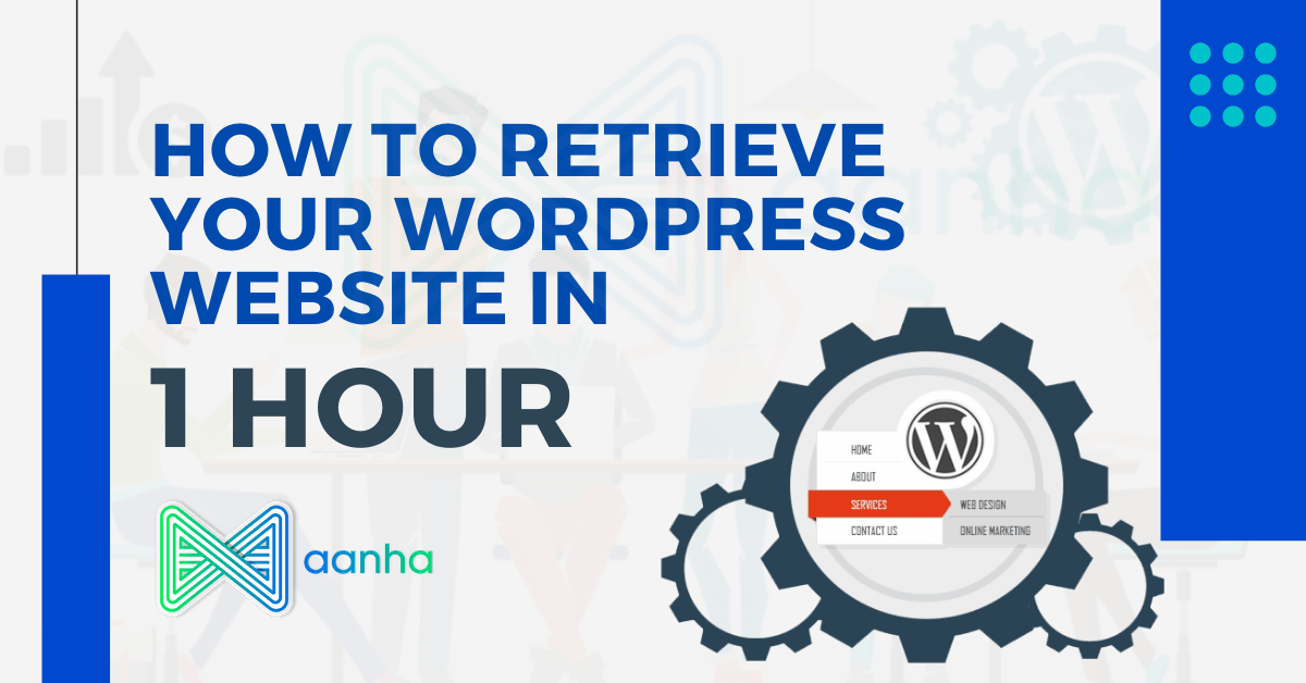 How to retrieve your WordPress website in 1 hour, wordpress website restore, website retrieve